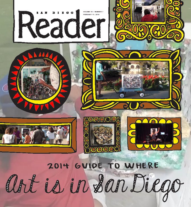 """Reader cover contest- """"Where is Art in San Diego?"""" randiegoit"""
