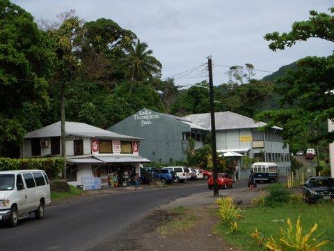 Approaching the island's Sadie Thompson Inn.