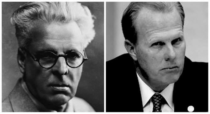 William Butler Yeats, Kevin Faulconer, separated only by time and eyesight?