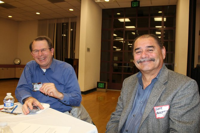 Dukie Valderrama with community member at Norman Park Center