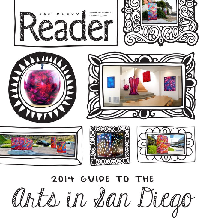 Featuring public art works created by the artist in San Diego.