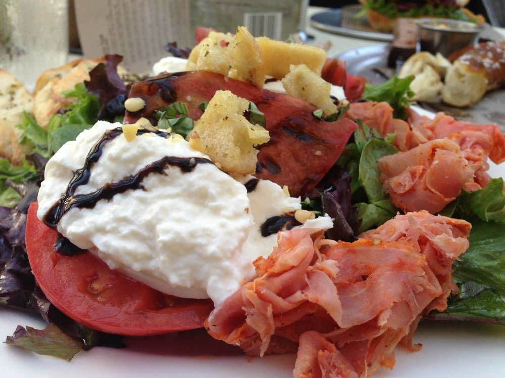 Heirloom salad, all kinds of yum.