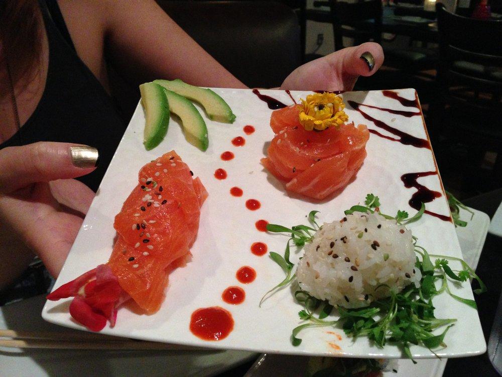 Mellie's gorgeous salmon sashimi plate