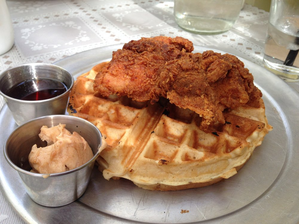 Chicken and waffle, needed a bit of salt, otherwise delicious