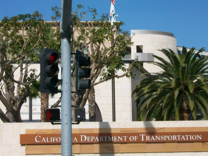 Cal Trans edifice building in Old Town.