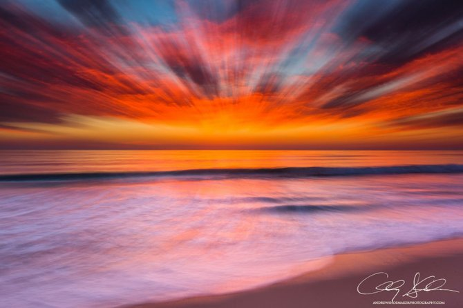 Abstract Sunset in Carlsbad by Andrew Shoemaker.