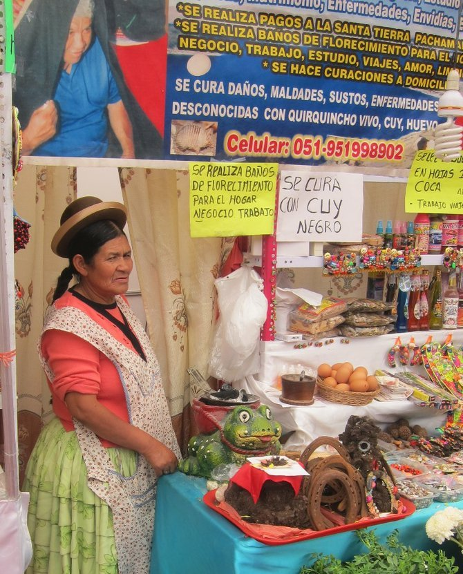 Curandero and her stall.