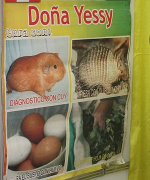 Doña Yessy's curandero advertisement.