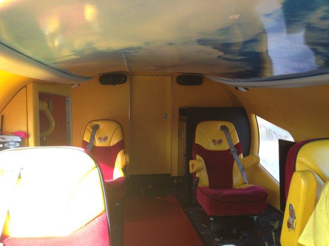 The Wienermobile interior