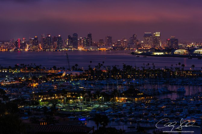 View of Downtown San Diego from Point Loma by Andrew Shoemaker.