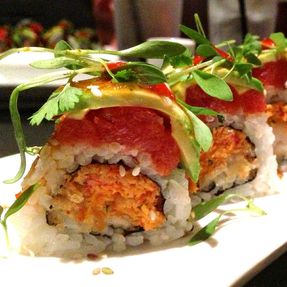 The absolutely delicious Crab-tain Crunch roll