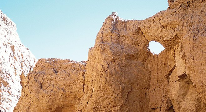 One interesting side canyon has a hole in the wall.