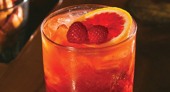 Johnny's Fire & Berry Old Fashioned