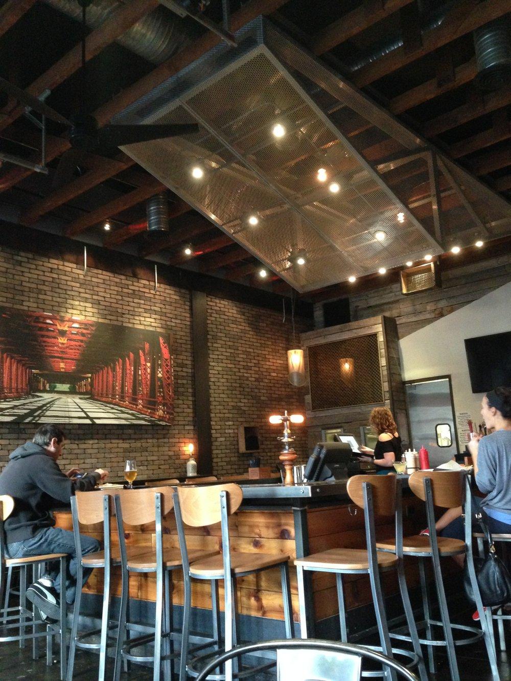 Shot of the bar at Salt & Cleaver