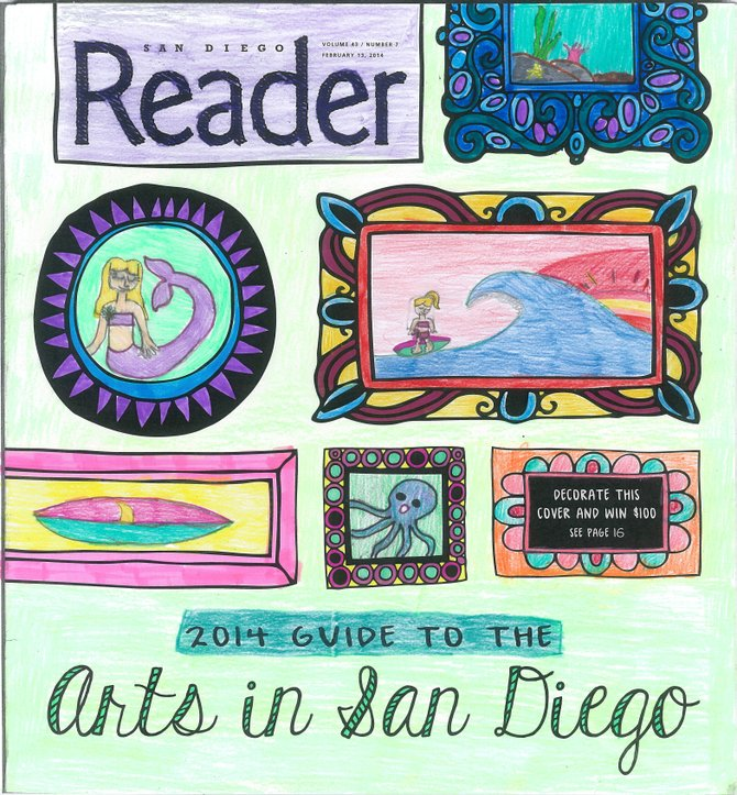 Ocean Life is San Diego -Art Cover Contest Miss Charlie Pringle, 8 yrs old