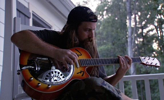 Mark Morton on his porch