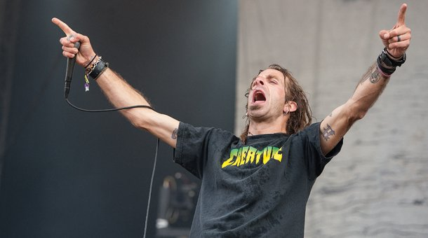 Randy Blythe performing
