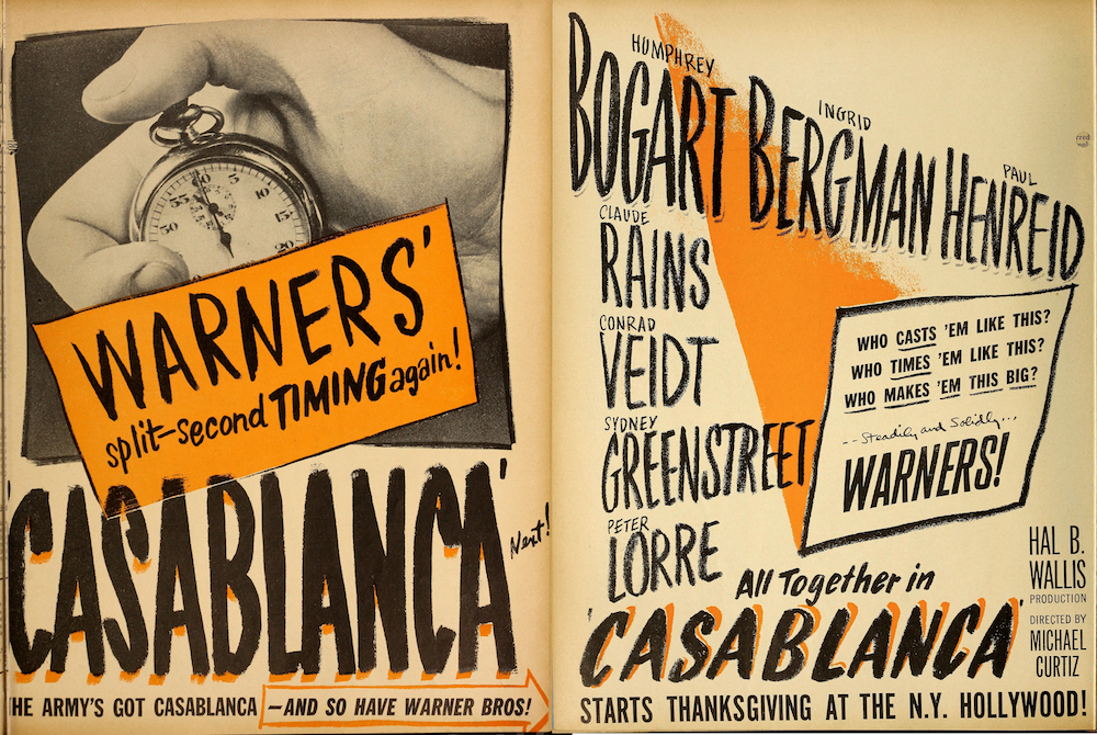 Vintage trade ad from The Film Daily, 11-24-42.