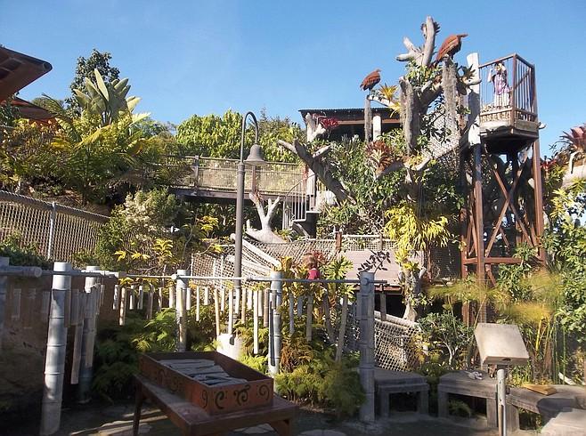 Toni's Treehouse in Hamilton Children's Garden.