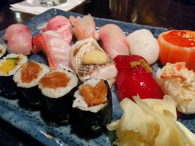 A smaller version of Shino's omakase meal