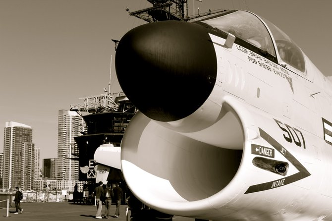 Midway in the afternoon. A great picture of a cool plane.