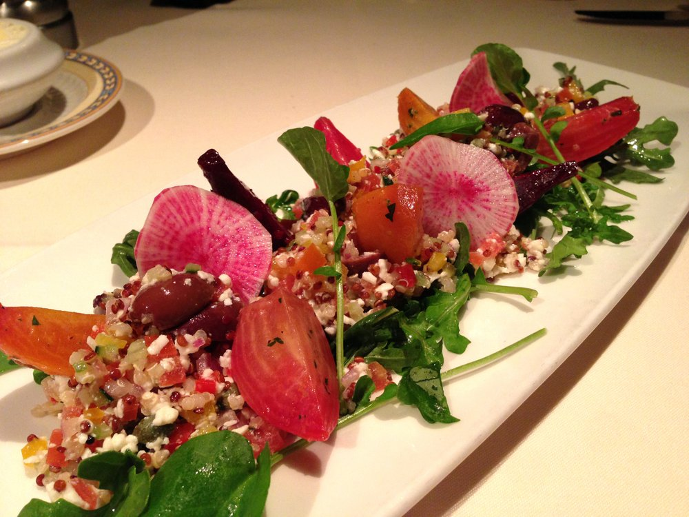 Gorgeous and delicious savory beet salad