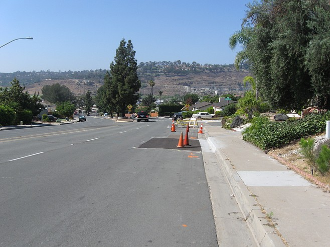 Repaired sinkhole site on Princess View Drive