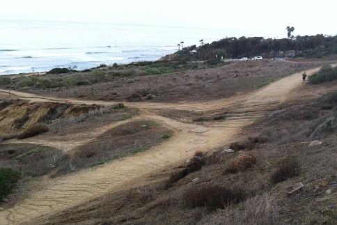 Erosion site across a trail
