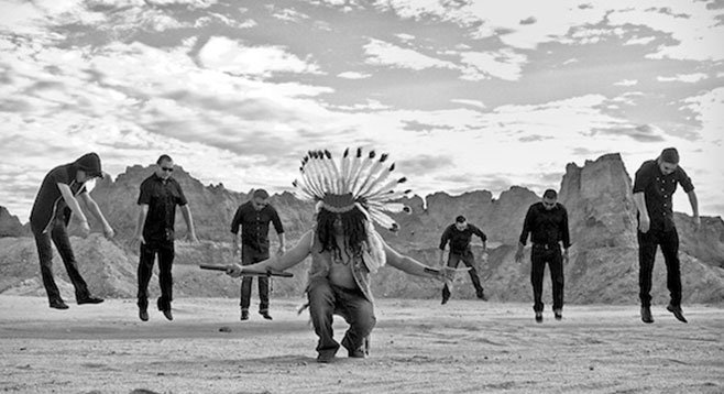 Flute-toting techno shaman Estrada conjures Rancho Shampoo.
