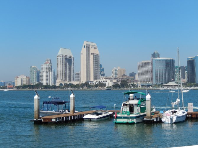 At Peohe's looking out on Beautiful San Diego!