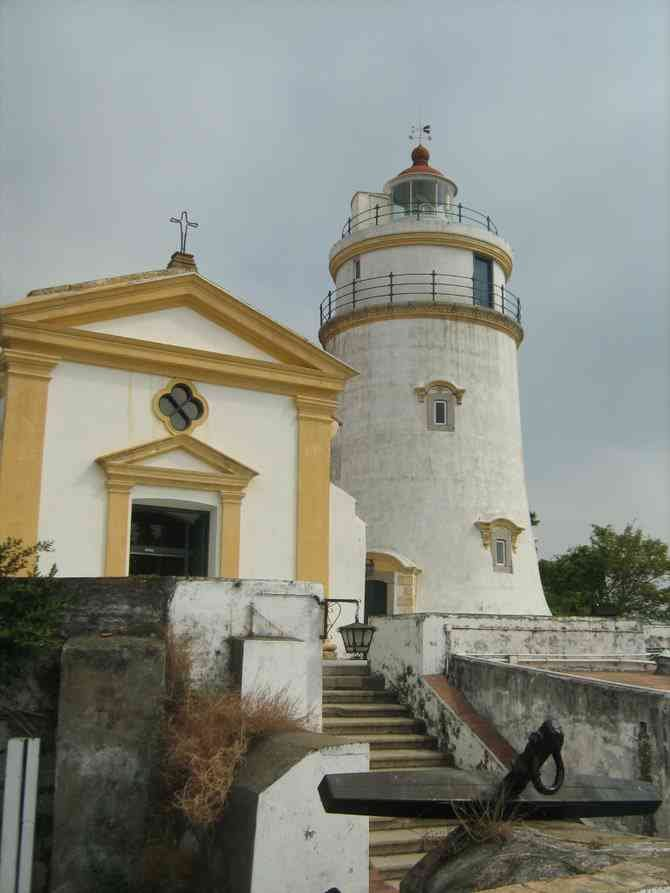 Guia Hill chapel and lighthouse.