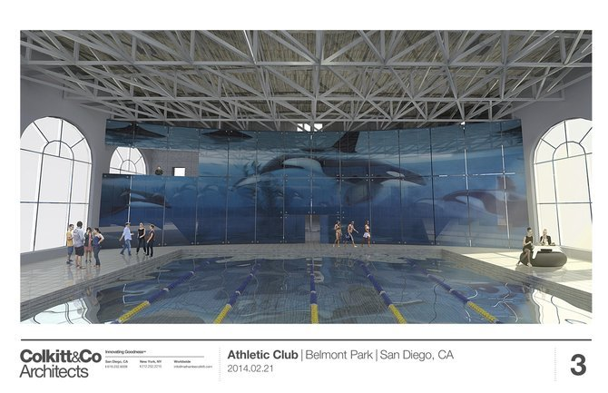Rendering of the resurrected Wyland Whaling Wall, in glass