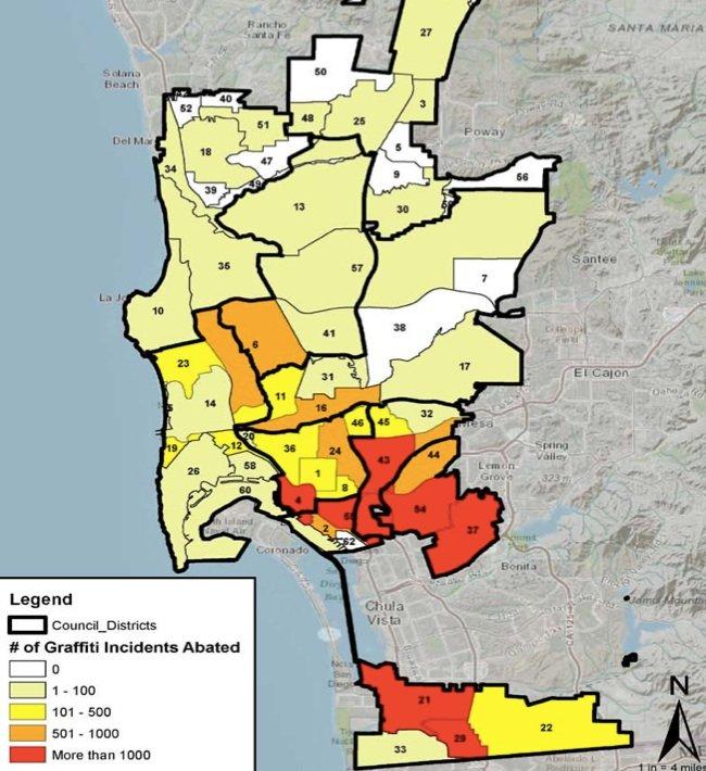 Graffiti incidence map