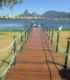 Rodrigo de Freitas Lagoon, Rio de Janeiro, Brazil, August 2012. A gorgeous winter day.