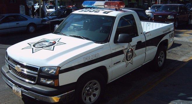Tijuana police truck