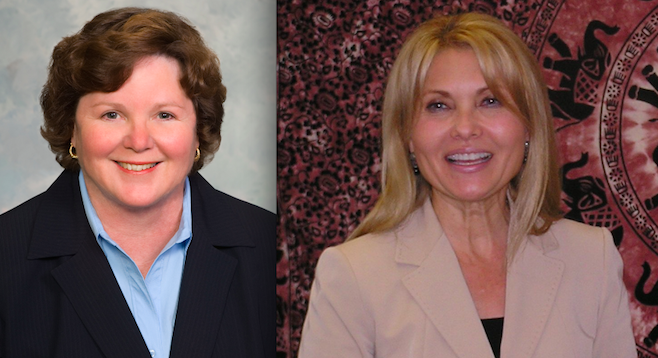 Chula Vista's mayorship — Cheryl Cox, termed out; Shirley Horton, not interested