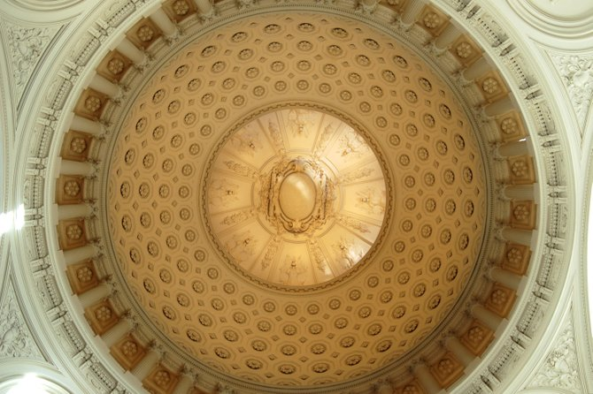 Looking up at the dome's interior.