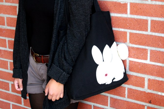 Tracy Yang's bunny purse