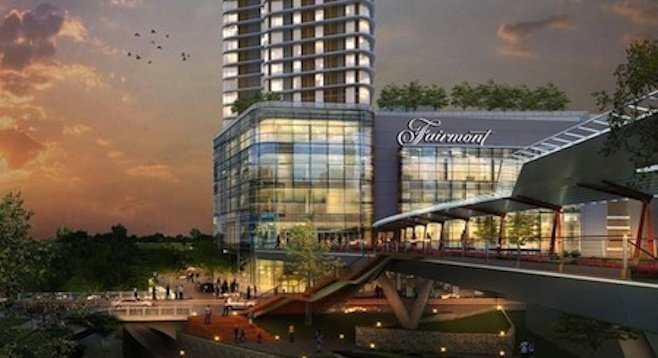 Artist's rendition of Fairmont hotel