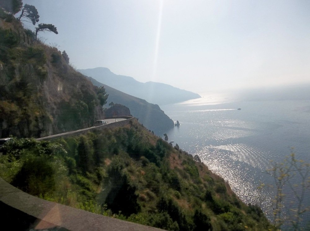 The Amalfi Coast. Sit on the right side of the bus.