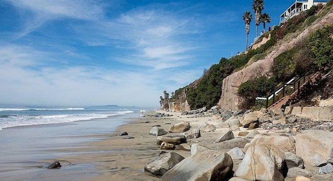 Cliff at Beacons Beach