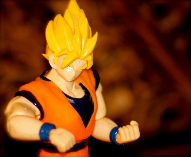 Goku from DBZ training in Spring Valley.