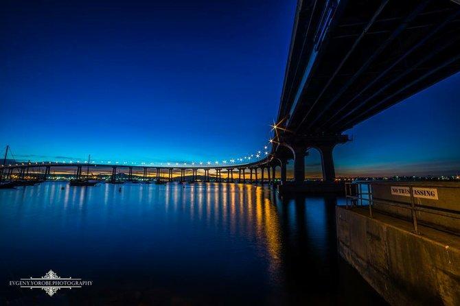 The Coronado Bridge at night by Evgeny Yorobe.
