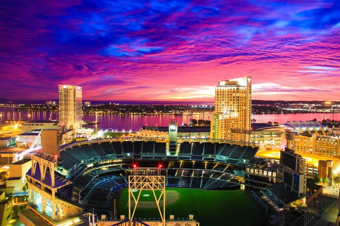 Petco Park at Sunset by Michael Wooten.