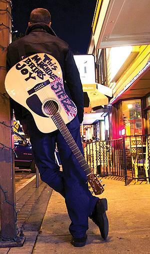 Dave Sheldon waits near Cosmos' open mic in La Mesa.