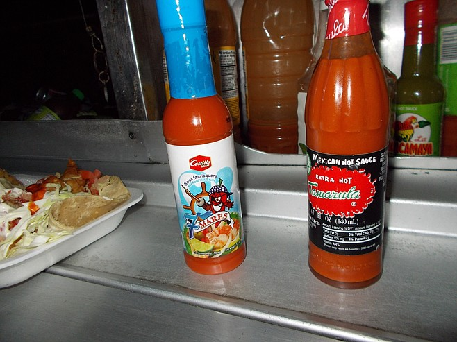 The hot sauces