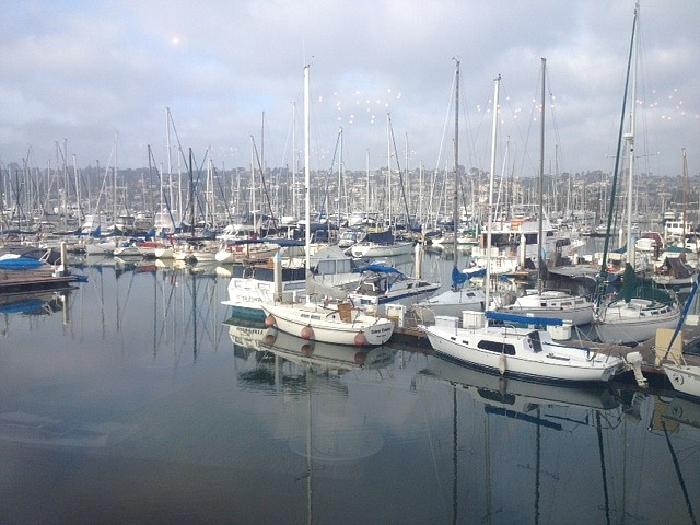 Our view of the marina
