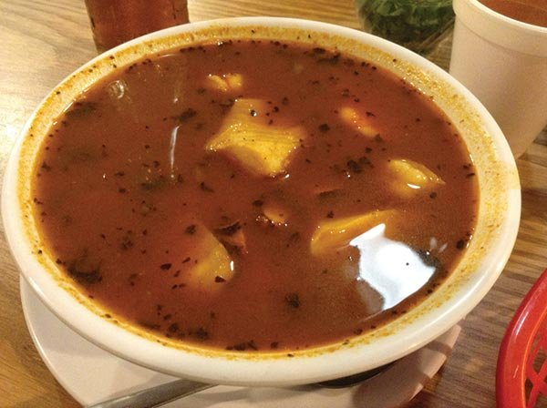 Small bowl of Siete Mares soup