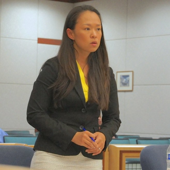 Prosecutor Mei Owen charged robbery, but the judge found for grand theft. Photo by Eva