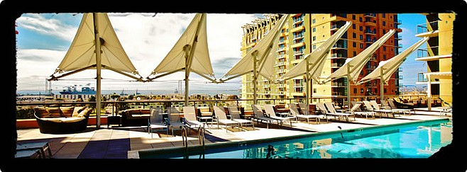 Poolside at Pacific Beacon